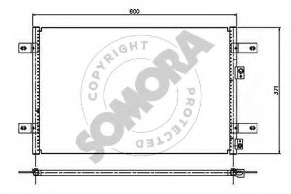 SOMORA 097060 Конденсатор кондиционера