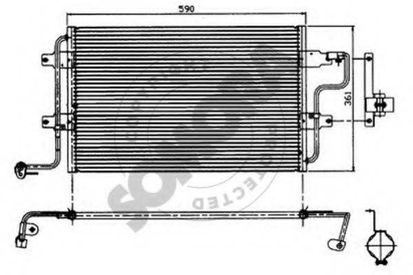 SOMORA 350960 Конденсатор кондиционера