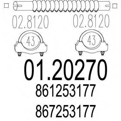 MTS 0120270 Гофрированная труба, выхлопная система
