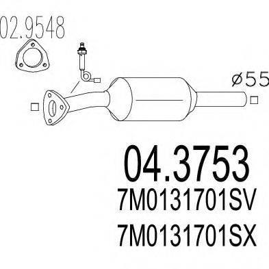 MTS 043753 Конвертор- катализатор