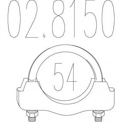 MTS 028150 Хомут соединительный