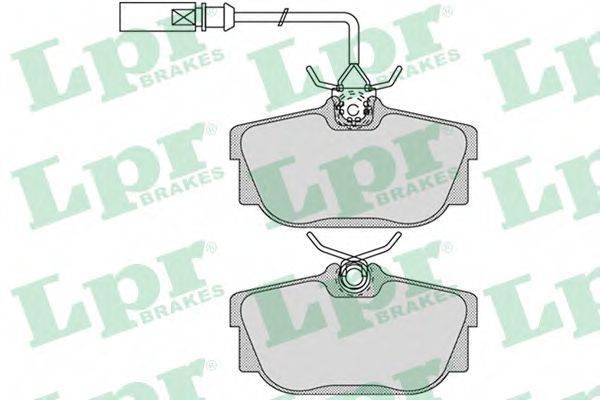 LPR 05P1699 Тормозные колодки