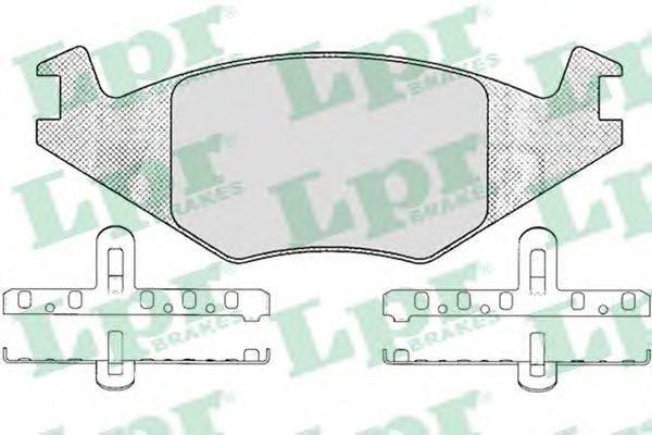 LPR 05P223 Тормозные колодки