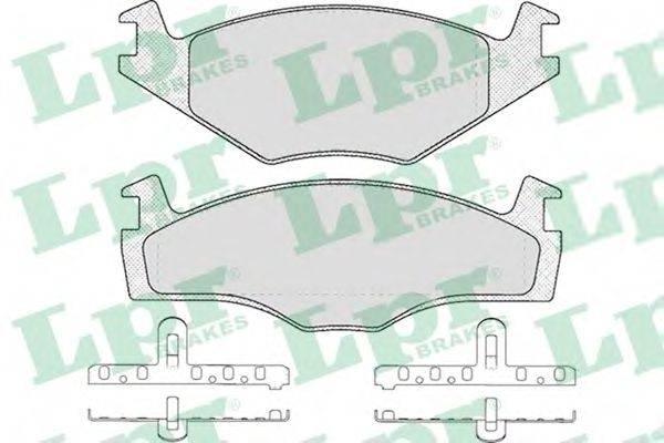 LPR 05P224 Тормозные колодки