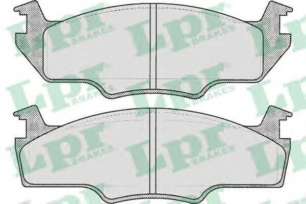 LPR 05P226 Тормозные колодки