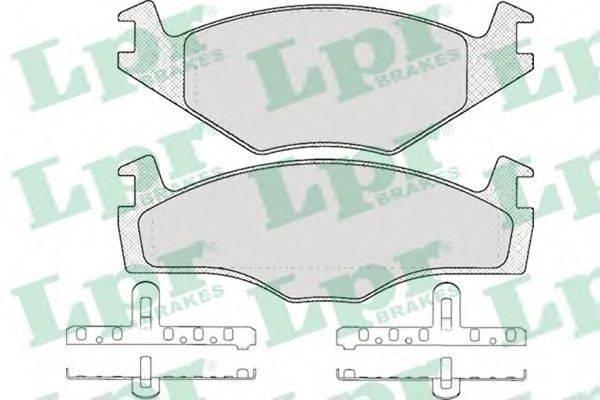 LPR 05P591 Тормозные колодки