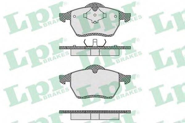 LPR 05P612 Тормозные колодки