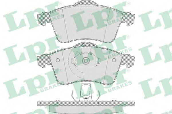 LPR 05P645 Тормозные колодки
