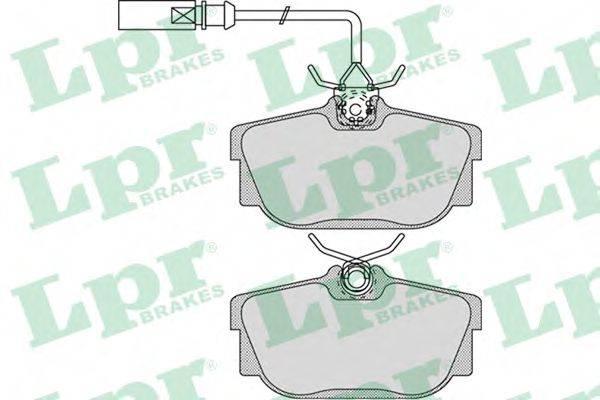 LPR 05P974 Тормозные колодки