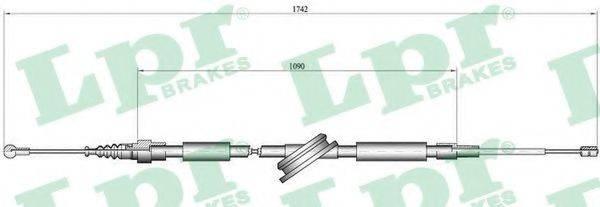 LPR C0048B Трос, стояночная тормозная система