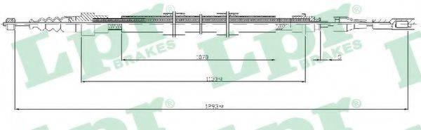 LPR C0258B Трос, стояночная тормозная система