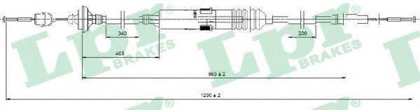 LPR C0276C Трос сцепления