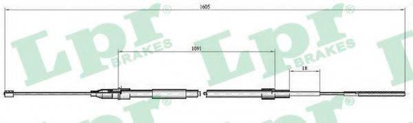 LPR C0651B Трос, стояночная тормозная система