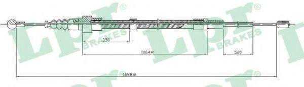 LPR C0953B Трос, стояночная тормозная система