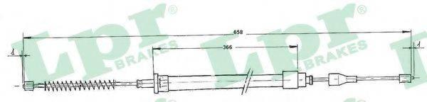 LPR C0963B Трос, стояночная тормозная система