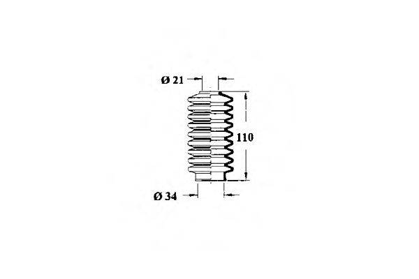 OCAP 1211084 Пыльник рулевой рейки