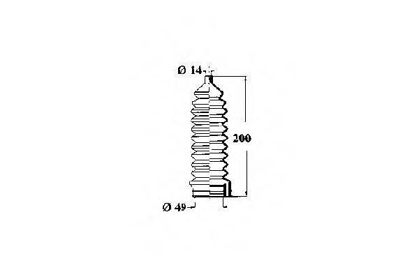 OCAP 1211182 Пыльник рулевой рейки