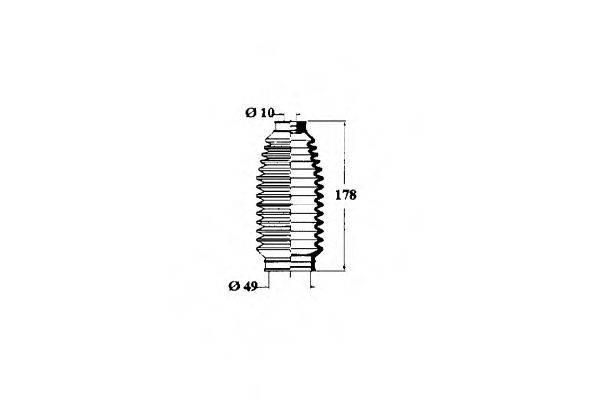 OCAP 1211183 Пыльник рулевой рейки