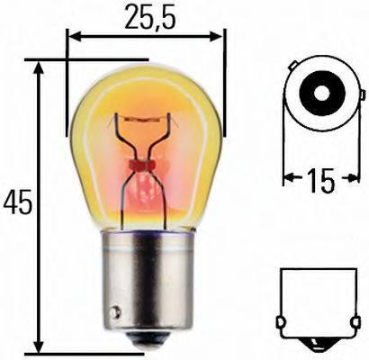 HELLA 8GA006841121 Лампа накаливания, фонарь указателя поворота; Лампа накаливания, фонарь указателя поворота