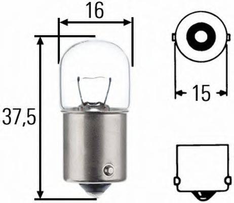 HELLA 8GA002071121 Лампа накаливания, фонарь указателя поворота; Лампа накаливания, фонарь освещения номерного знака; Лампа накаливания, задний гарабитный огонь; Лампа накаливания, oсвещение салона; Лампа накаливания, фонарь освещения багажника; Лампа накаливания, стояночные огни / габаритные фонари; Лампа накаливания, габаритный огонь; Лампа накаливания; Лампа накаливания, стояночный / габаритный огонь; Лампа накаливания, oсвещение салона; Лампа накаливания, фонарь освещения номерного знака; Лампа накаливания, стояночный / габаритный огонь; Лампа накаливания, задний гарабитный огонь; Лампа накаливания, габаритный огонь
