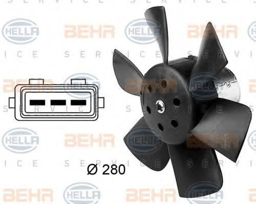 HELLA 8EW009144381 Вентилятор системы охлаждения двигателя