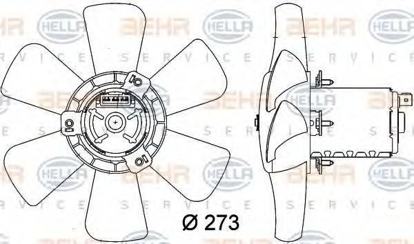 HELLA 8EW009144401 Вентилятор системы охлаждения двигателя