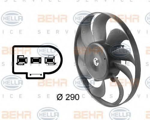 HELLA 8EW009144601 Вентилятор конденсатора кондиционера