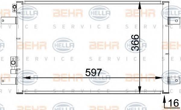 HELLA 8FC351036111 Конденсатор кондиционера