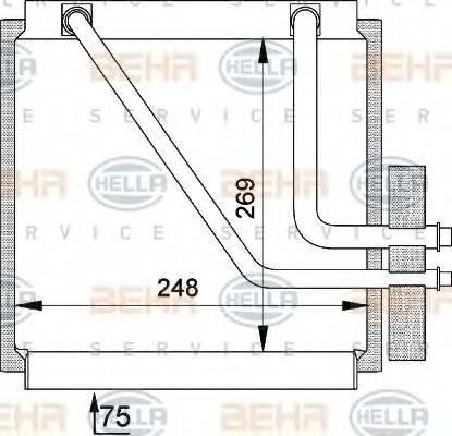 HELLA 8FV351210141 Испаритель кондиционера