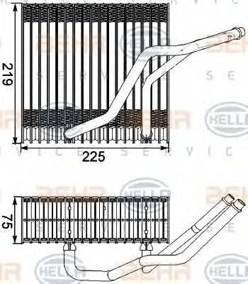 HELLA 8FV351210541 Испаритель кондиционера