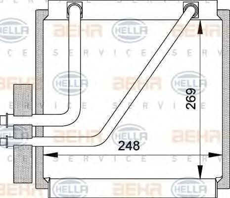 HELLA 8FV351210641 Испаритель кондиционера