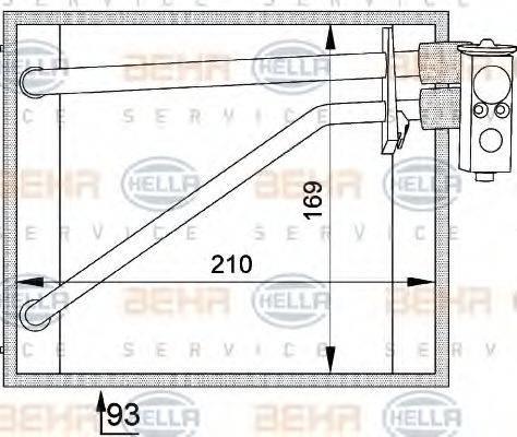HELLA 8FV351211131 Испаритель кондиционера