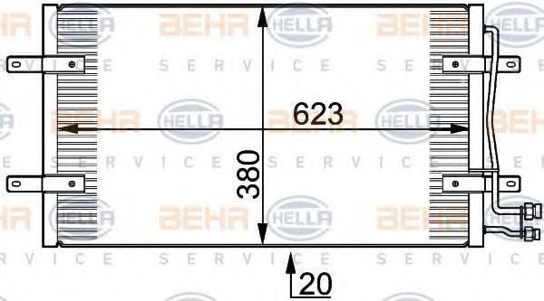 HELLA 8FC351300201 Конденсатор кондиционера