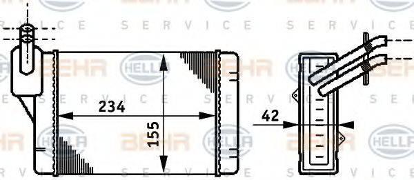 HELLA 8FH351311011 Радиатор печки