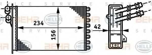 HELLA 8FH351311021 Радиатор печки