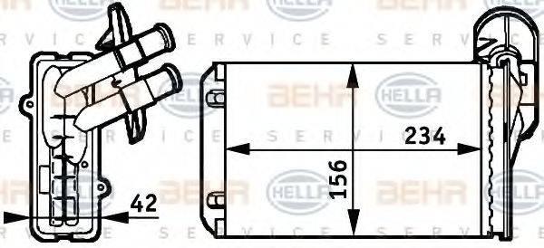 HELLA 8FH351311041 Радиатор печки