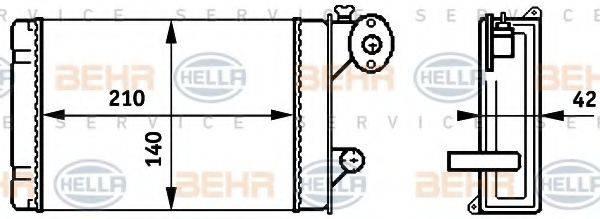 HELLA 8FH351313341 Радиатор печки
