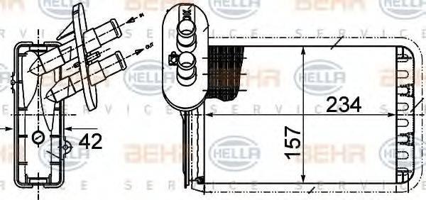 HELLA 8FH351313451 Радиатор печки