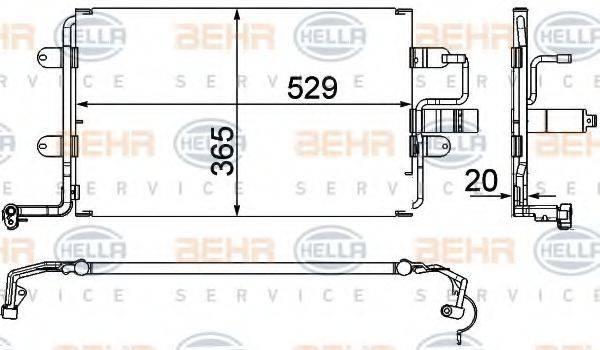 HELLA 8FC351318581 Конденсатор кондиционера