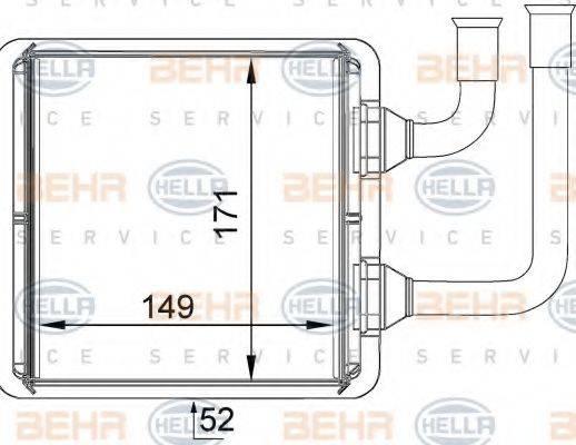 HELLA 8FH351333061 Радиатор печки