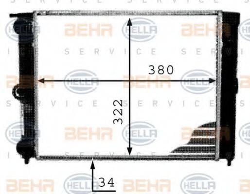 HELLA 8MK376713341 Радиатор охлаждения двигателя