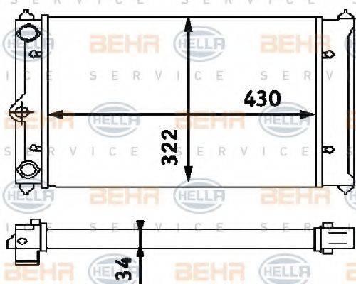 HELLA 8MK376714661 Радиатор охлаждения двигателя