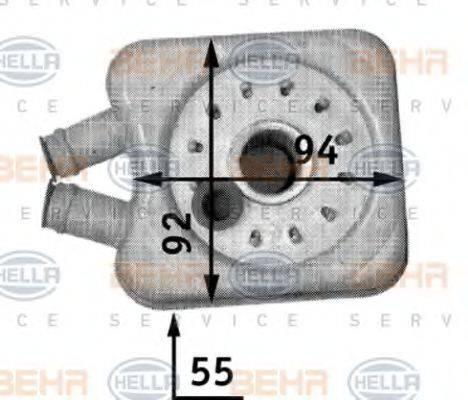 HELLA 8MO376726221 Масляный радиатор