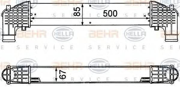 HELLA 8ML376776571 Интеркулер
