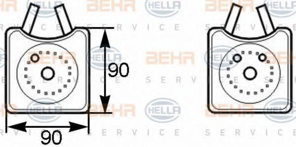 HELLA 8MO376778001 Масляный радиатор