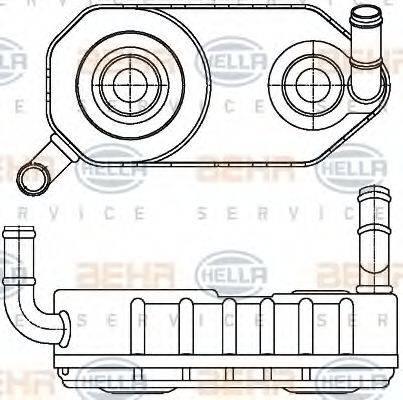 HELLA 8MO376787671 Масляный радиатор, автоматическая коробка передач