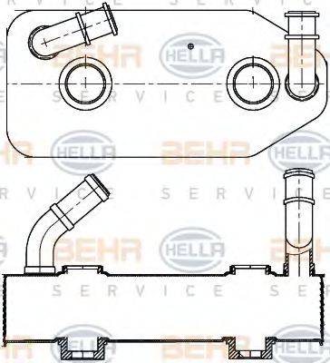 HELLA 8MO376787681 Масляный радиатор, автоматическая коробка передач