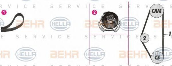 HELLA 8MP376801821 Водяной насос + комплект зубчатого ремня