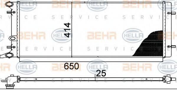 HELLA 8MK376888784 Радиатор охлаждения двигателя