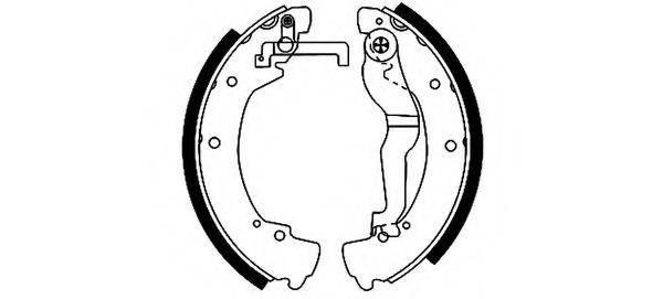 HELLA 8DB355001281 Тормозные колодки барабанные